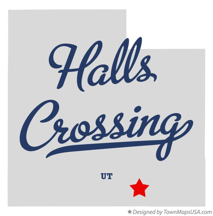 Map of Halls Crossing Utah UT