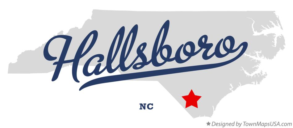 Map of Hallsboro North Carolina NC