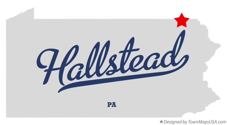 Map of Hallstead Pennsylvania PA