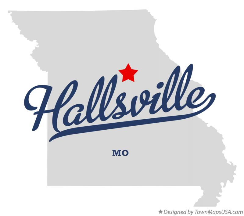 Map of Hallsville Missouri MO
