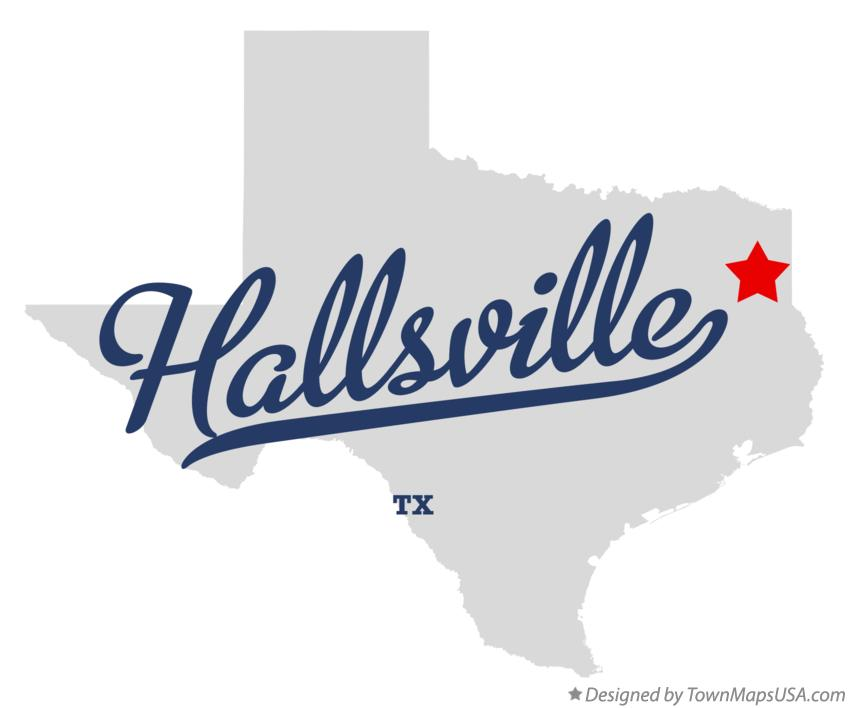 Map of Hallsville Texas TX