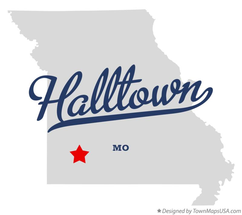 Map of Halltown Missouri MO