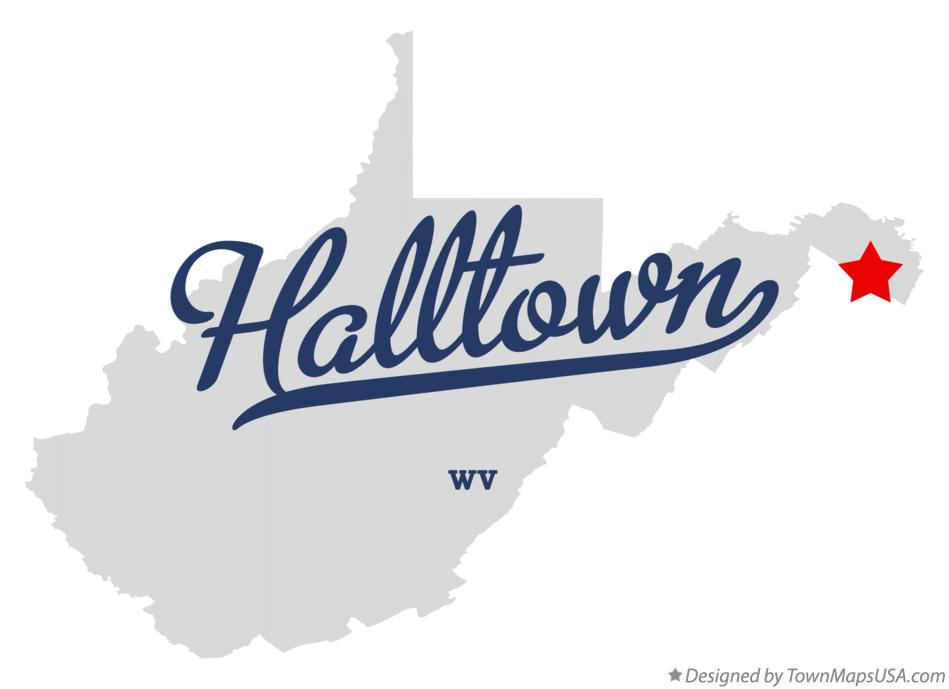 Map of Halltown West Virginia WV