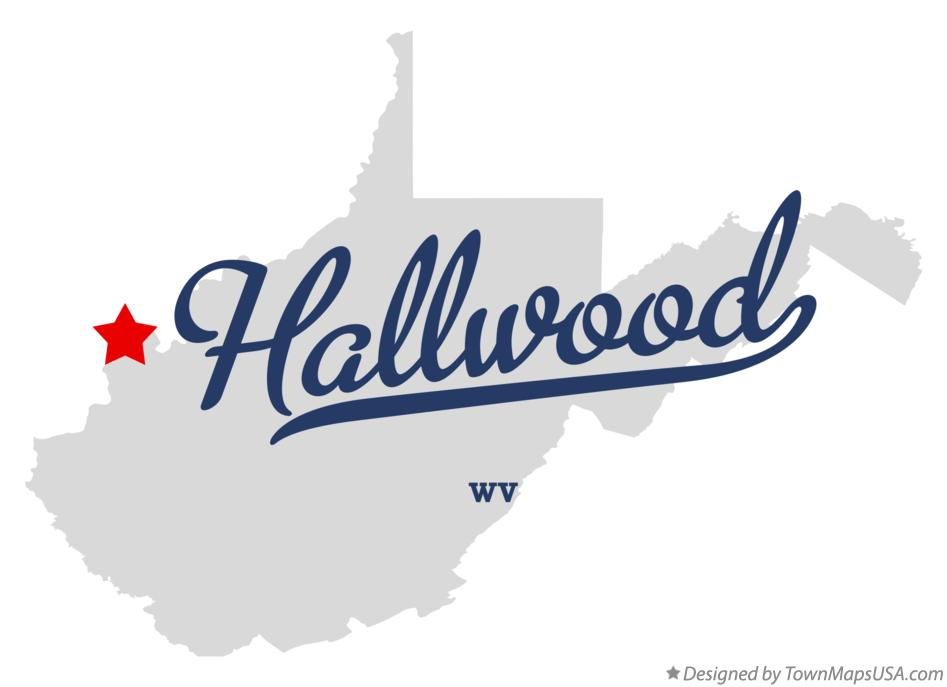 Map of Hallwood West Virginia WV