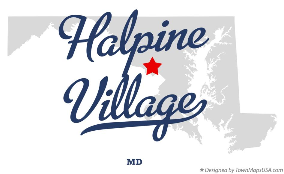 Map of Halpine Village Maryland MD