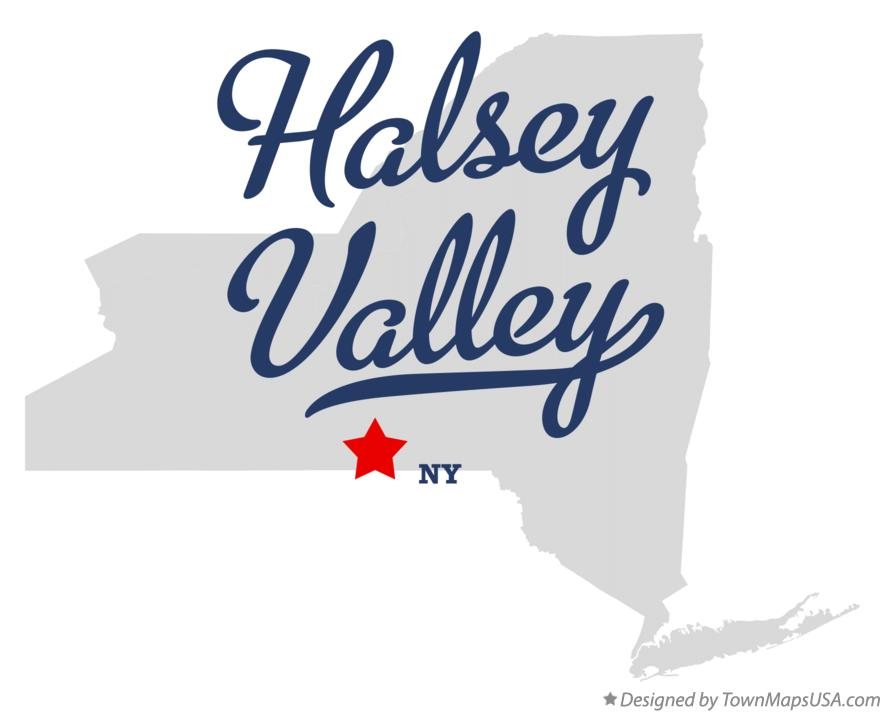 Map of Halsey Valley New York NY