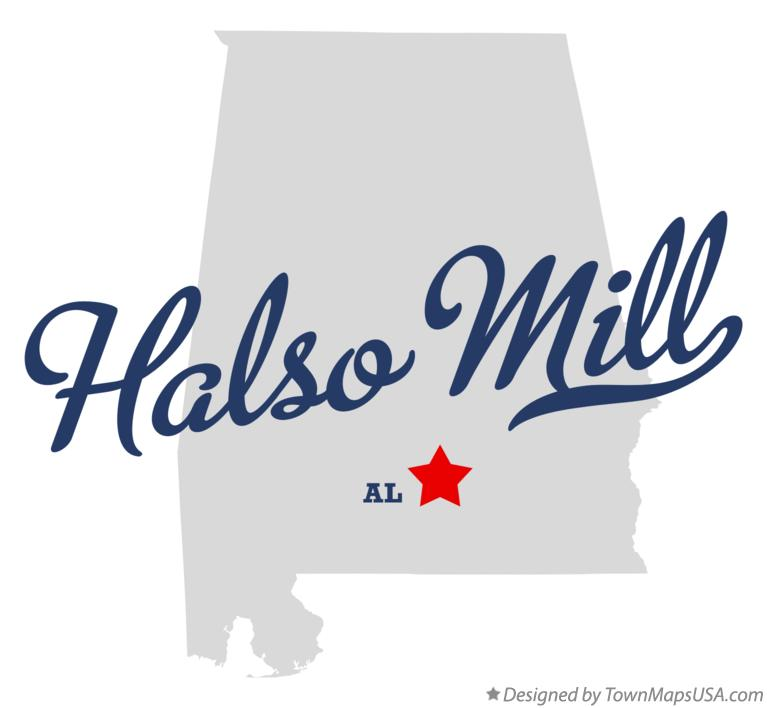 Map of Halso Mill Alabama AL