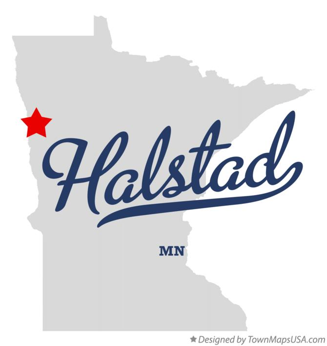 Map of Halstad Minnesota MN