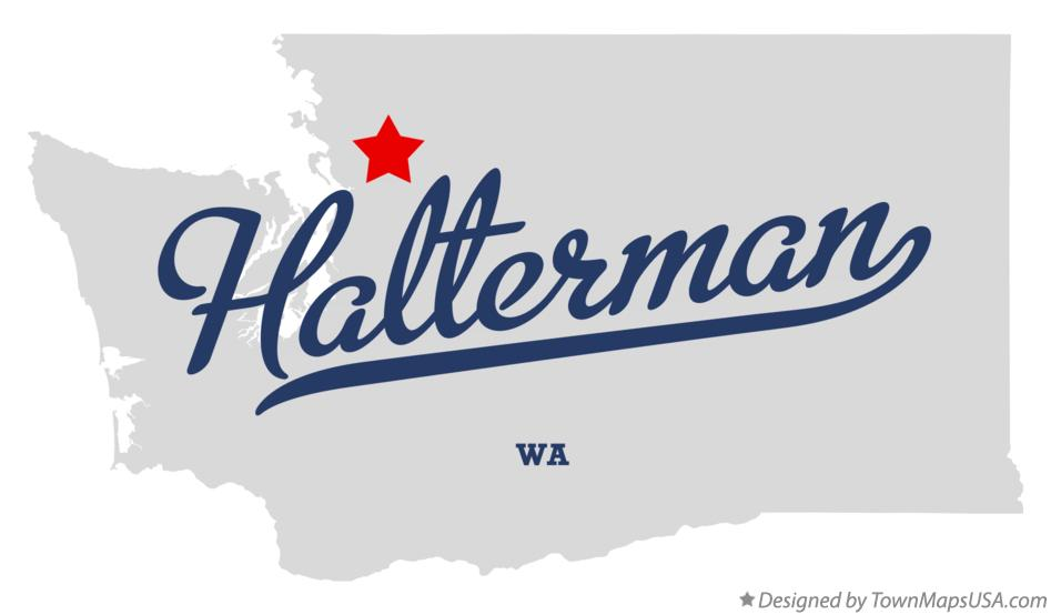 Map of Halterman Washington WA