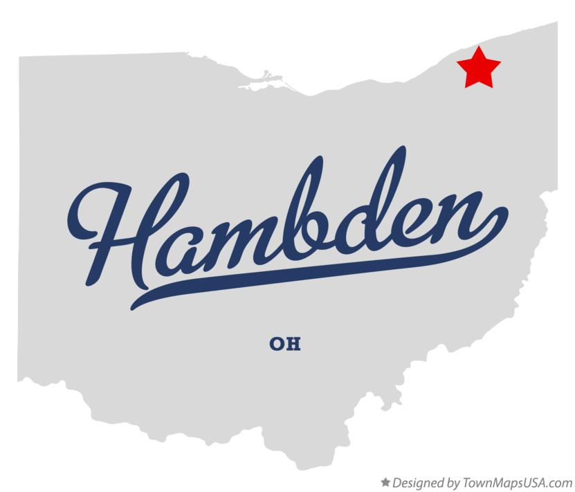 Map of Hambden Ohio OH