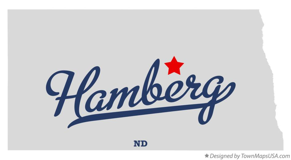 Map of Hamberg North Dakota ND
