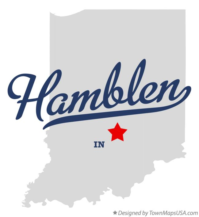 Map of Hamblen Indiana IN