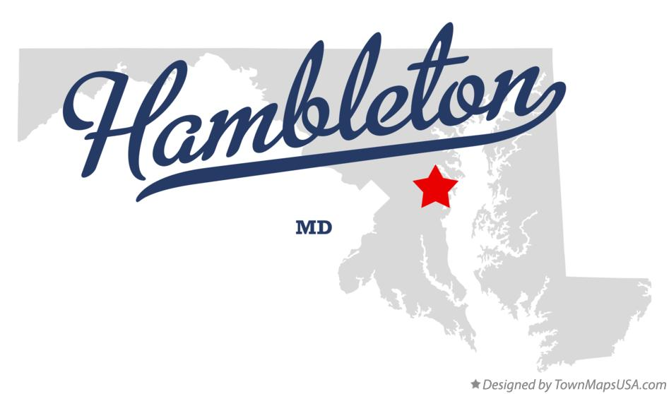 Map of Hambleton Maryland MD