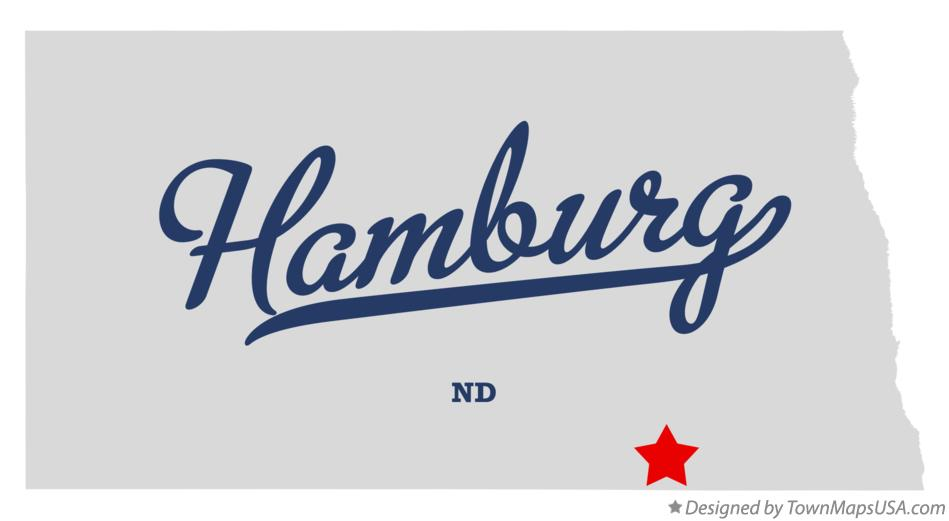 Map of Hamburg North Dakota ND