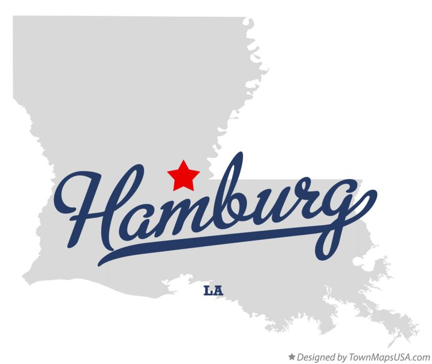 Map of Hamburg Louisiana LA