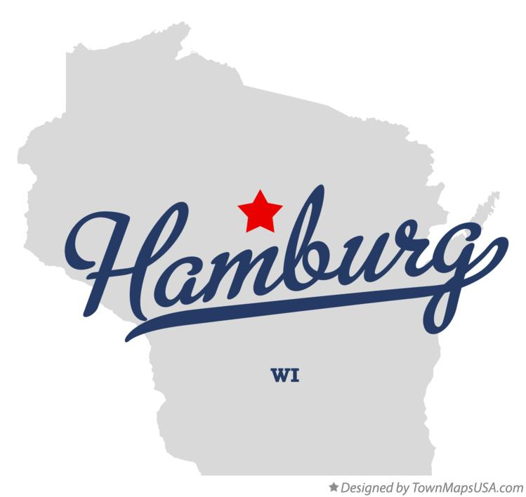 Map of Hamburg Wisconsin WI