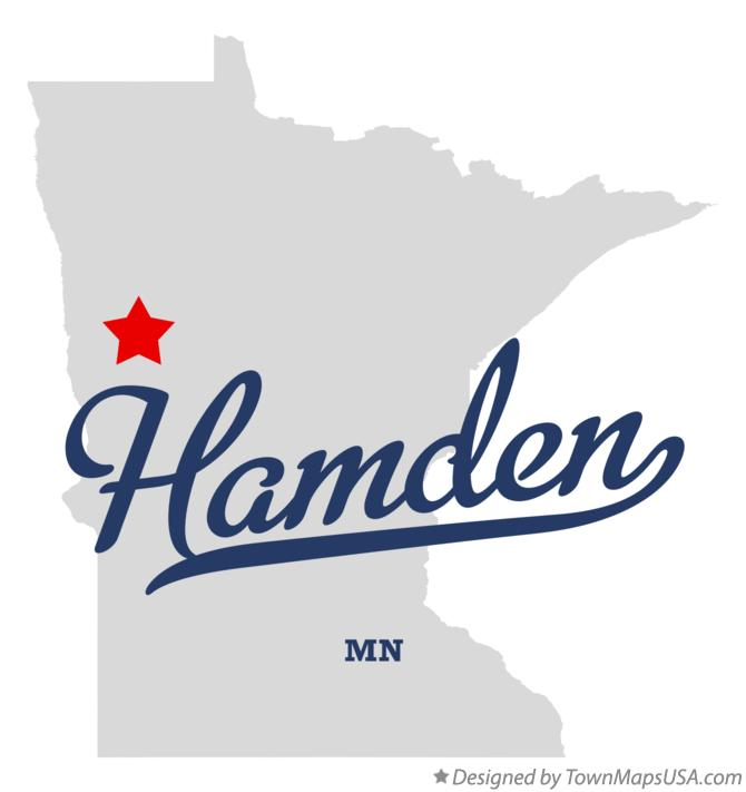 Map of Hamden Minnesota MN
