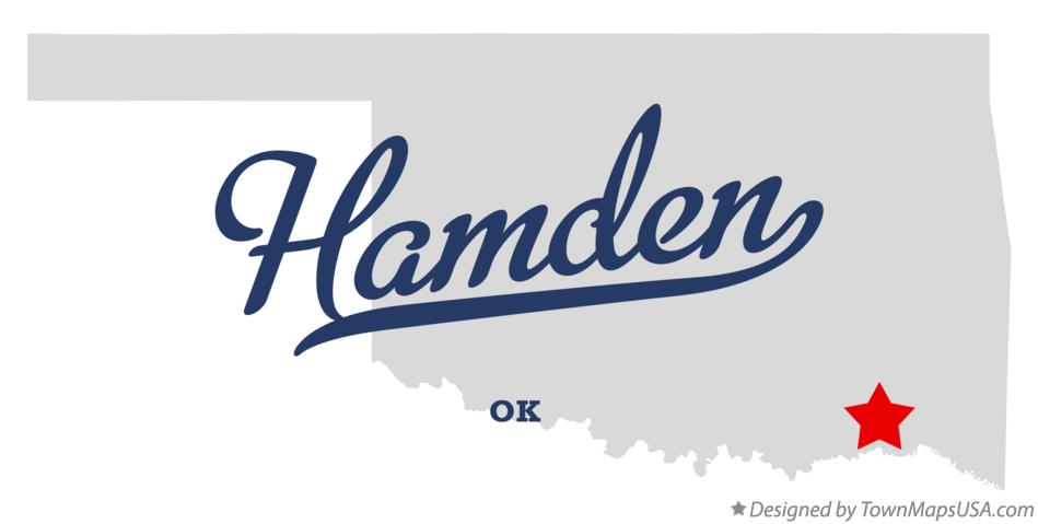 Map of Hamden Oklahoma OK