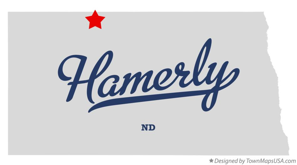 Map of Hamerly North Dakota ND