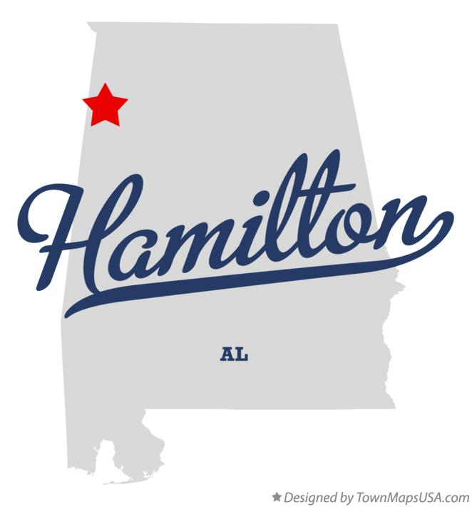 Map of Hamilton Alabama AL