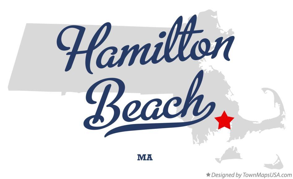 Hamilton Beach Logo map of hamilton beach, ma, massachusetts