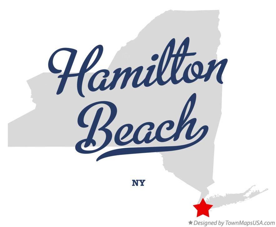 Map of Hamilton Beach New York NY