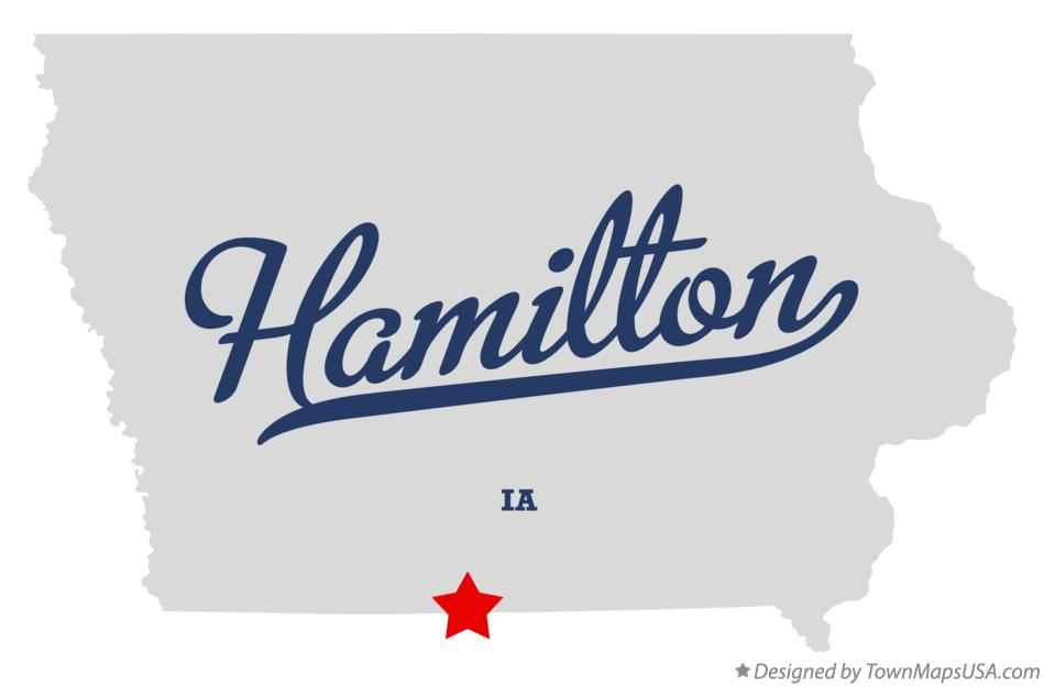Map of Hamilton Iowa IA