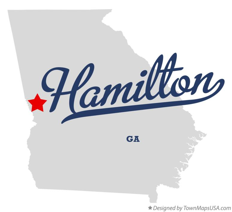 Map of Hamilton Georgia GA