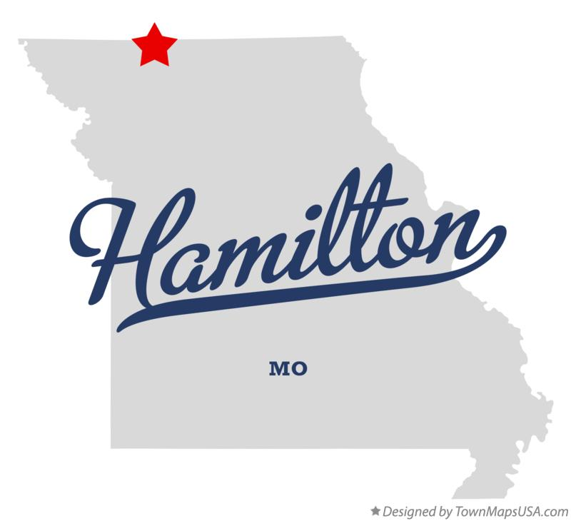 Map of Hamilton Missouri MO