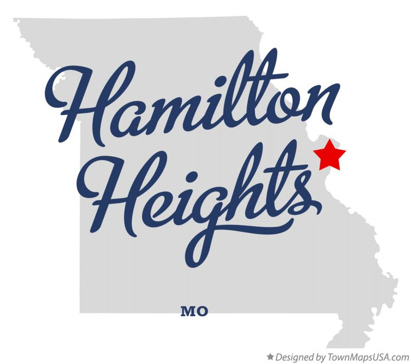 Map of Hamilton Heights Missouri MO