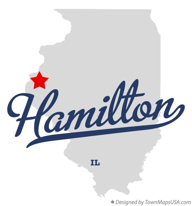 Map of Hamilton Illinois IL
