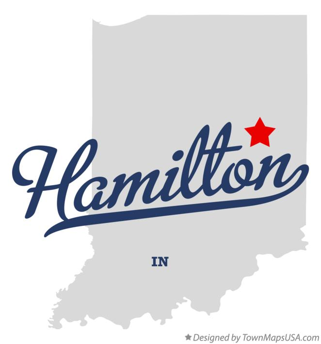 Map of Hamilton Indiana IN