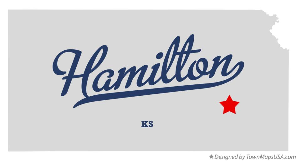 Map of Hamilton Kansas KS