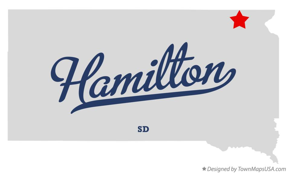 Map of Hamilton South Dakota SD