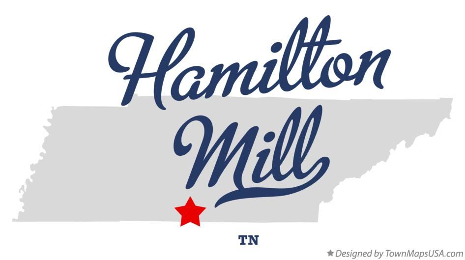 Map of Hamilton Mill Tennessee TN