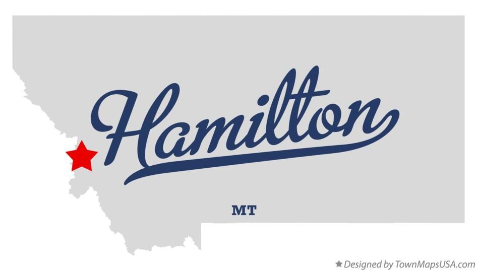 Hamilton (MT) United States  city photos gallery : Map of Hamilton, MT, Montana