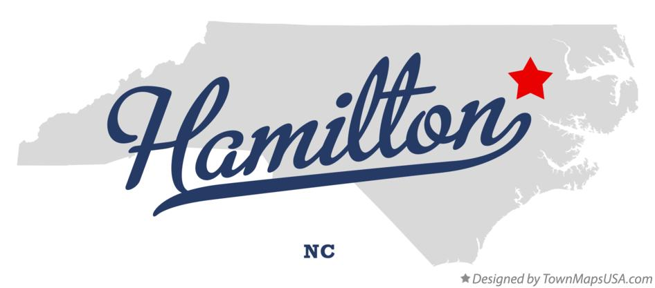 Map of Hamilton North Carolina NC