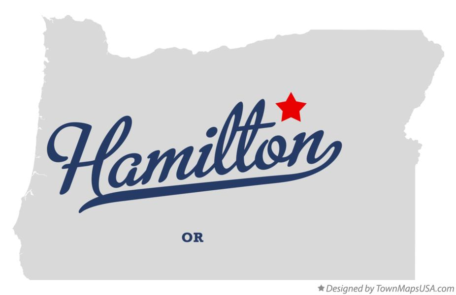 Map of Hamilton Oregon OR