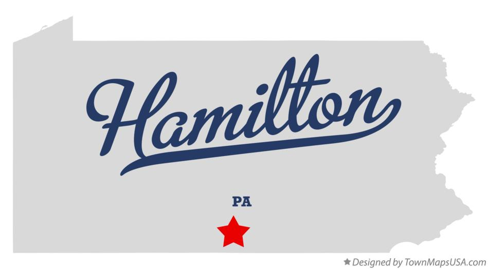 Map of Hamilton Pennsylvania PA