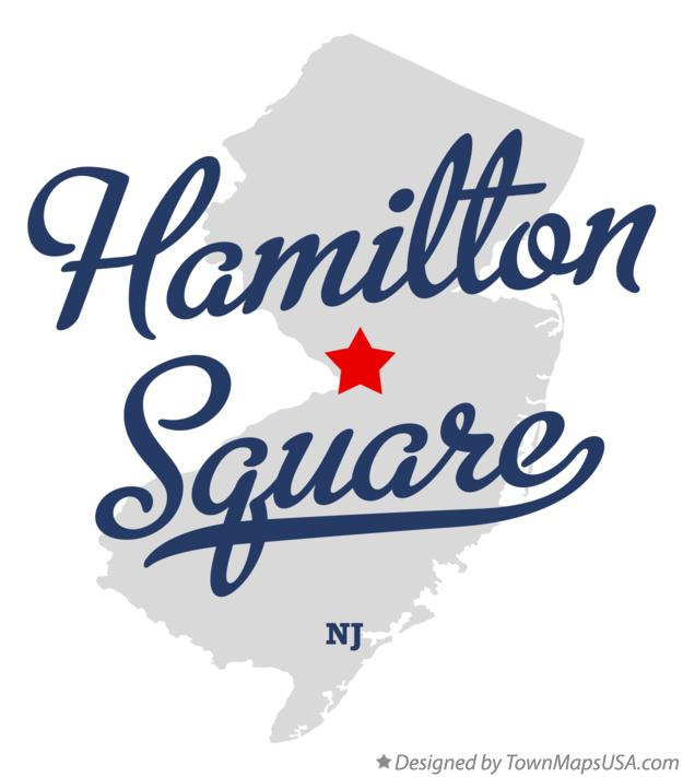 Map of Hamilton Square New Jersey NJ