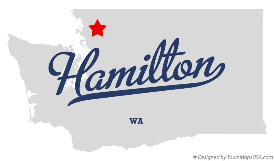 Map of Hamilton Washington WA