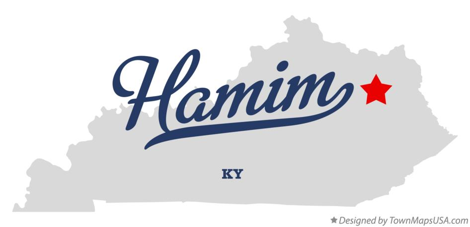 Map of Hamim Kentucky KY