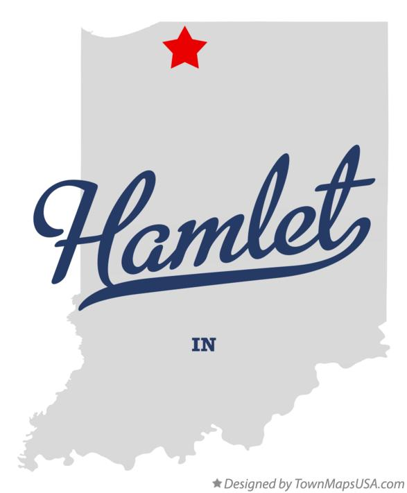 Map of Hamlet Indiana IN
