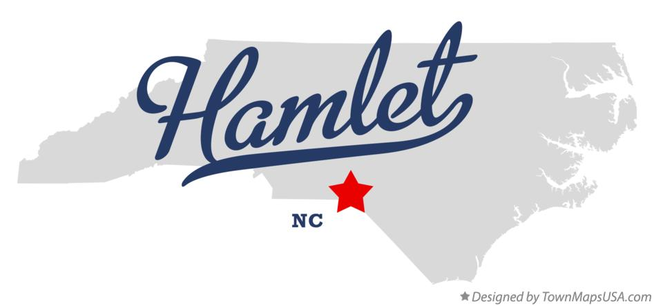 Map of Hamlet North Carolina NC