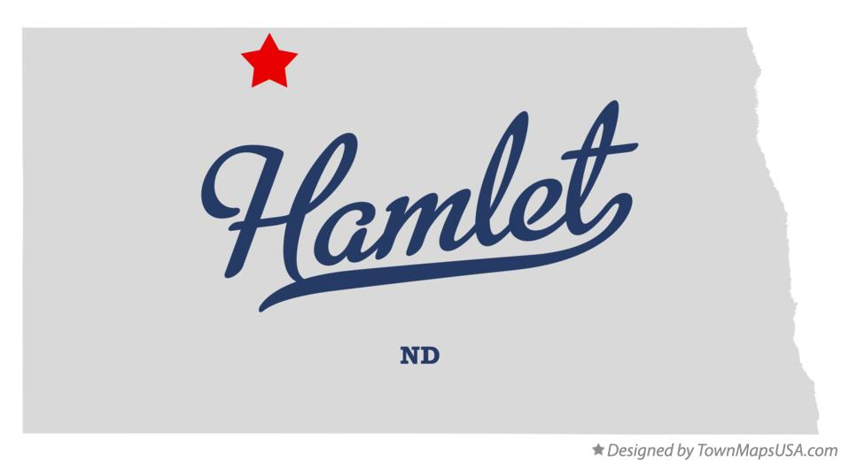Map of Hamlet North Dakota ND
