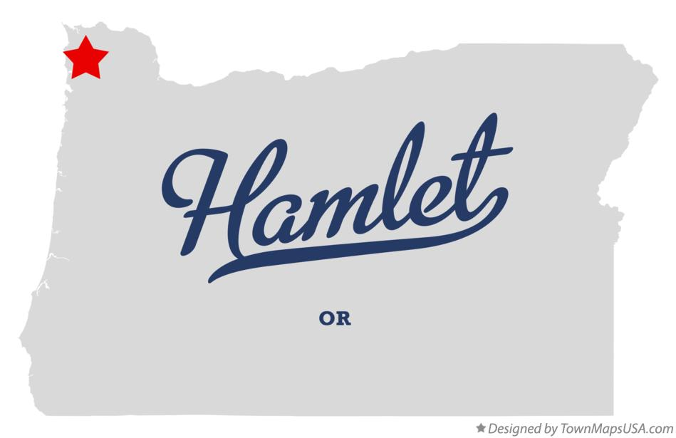 Map of Hamlet Oregon OR