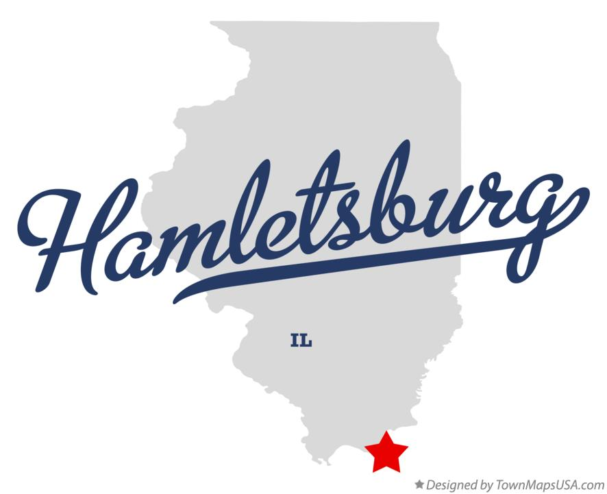 Map of Hamletsburg Illinois IL