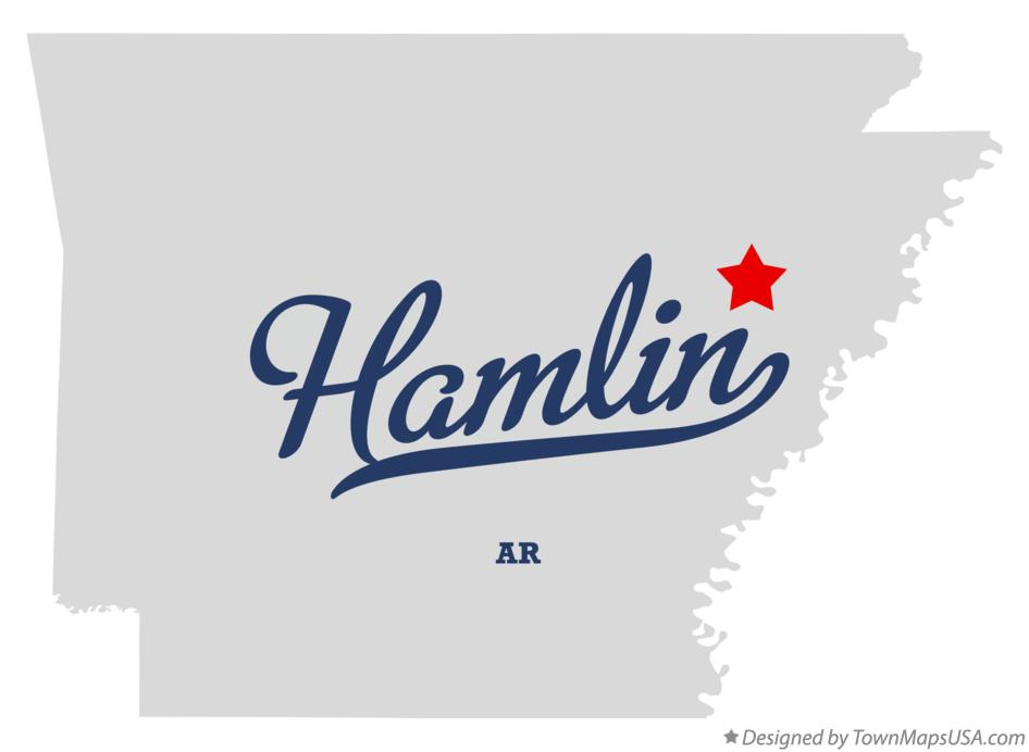 Map of Hamlin Arkansas AR