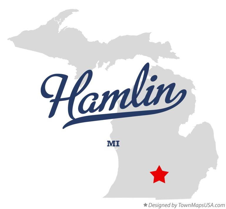 Map of Hamlin Michigan MI