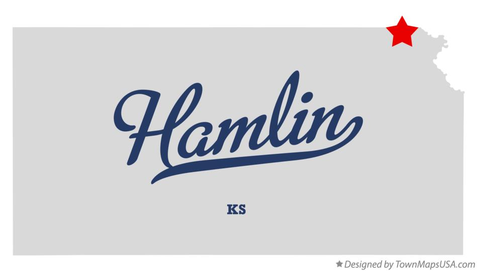 Map of Hamlin Kansas KS